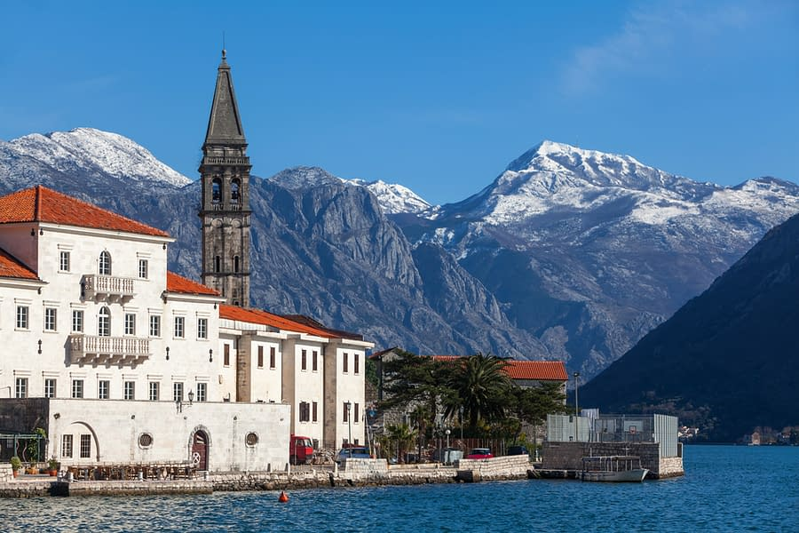 fragment of an old town Perast